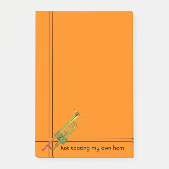 Toot Your Own Horn with a Trumpet Post-it Notes