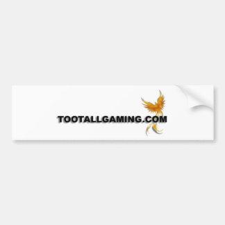 Tootallgaming.com Bumper Sticker