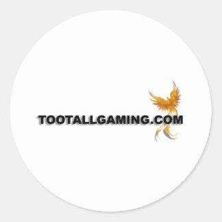Tootallgaming.com Round Stickers