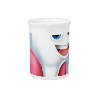 Tooth and Gum Cartoon Character Beverage Pitchers