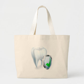 Tooth and Shield Concept Large Tote Bag