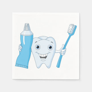 Tooth And Toothbrush Paper Napkins