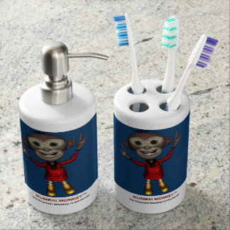 Tooth Brush Holder and Soap Dispenser Set