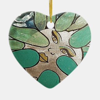 TOOTH DE LEON TO the VIENTO_result Ceramic Ornament