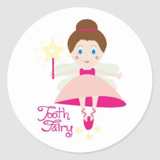 Tooth Fairy Classic Round Sticker