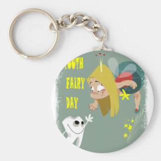 Tooth Fairy Day - Appreciation Day Basic Round Button Keychain