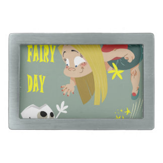 Tooth Fairy Day - Appreciation Day Rectangular Belt Buckle