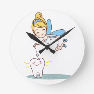 Tooth Fairy Day - Appreciation Day Round Clock