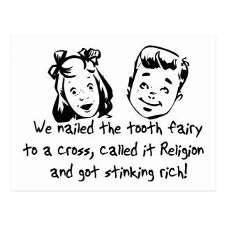 Tooth Fairy Religion Postcard