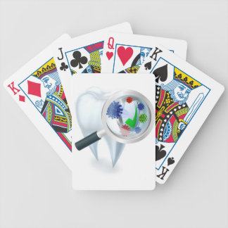 Tooth Magnifying Glass Bacteria Concept Bicycle Playing Cards