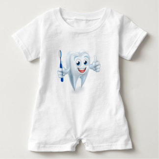 Tooth Mascot Character Baby Romper