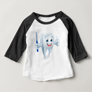 Tooth Mascot Character Baby T-Shirt