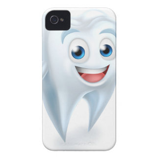 Tooth Mascot Character iPhone 4 Cover