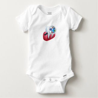 Tooth Protection Shield Baby Onesie