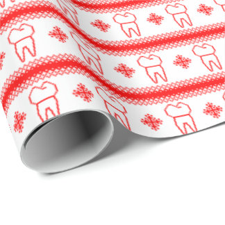 Tooth Snow Wrapping Paper