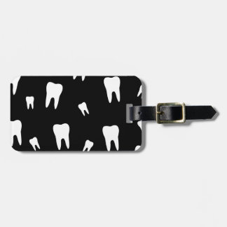 Tooth wallpaper luggage tag
