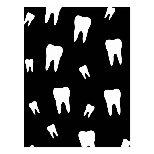 Tooth wallpaper postcard