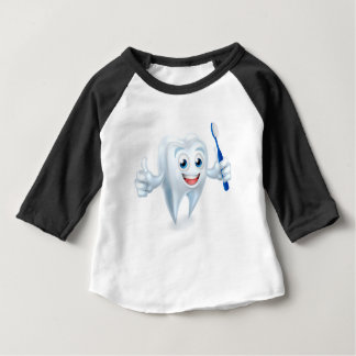Tooth with Brush Dental Mascot Baby T-Shirt
