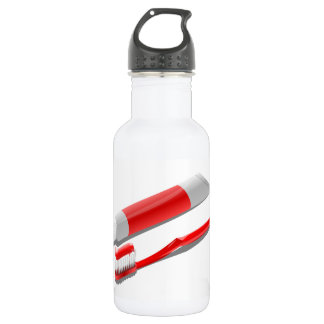 Toothbrush And Toothpaste 532 Ml Water Bottle