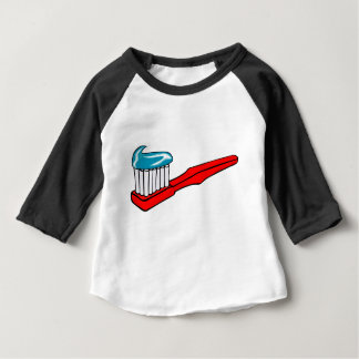 Toothbrush and Toothpaste Baby T-Shirt