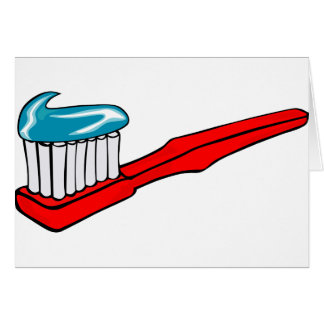 Toothbrush and Toothpaste Card