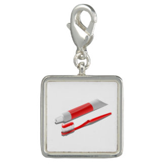 Toothbrush And Toothpaste Charm