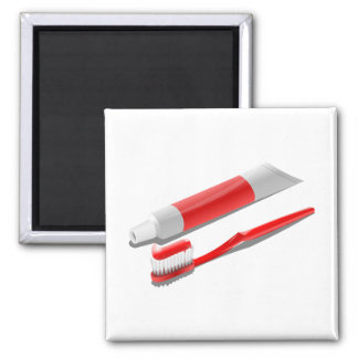 Toothbrush And Toothpaste Magnet
