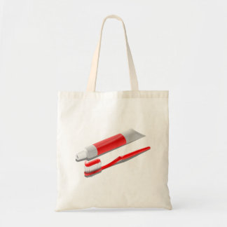Toothbrush And Toothpaste Tote Bag