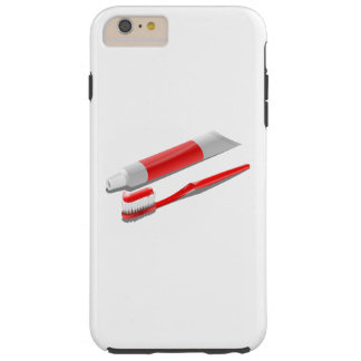 Toothbrush And Toothpaste Tough iPhone 6 Plus Case