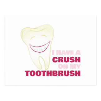 Toothbrush Crush Postcard
