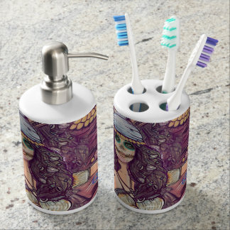 Toothbrush Holder and Glass