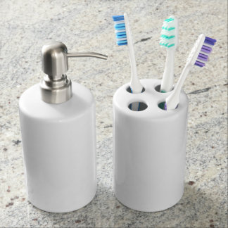 Toothbrush Holder and Soap Dispenser Set
