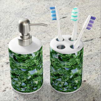 Toothbrush Holder and Soap Dispenser Set