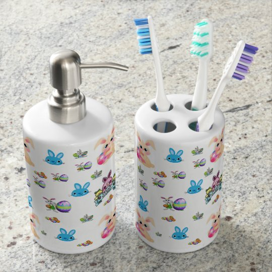 toothbrush holder soap dispenser bathroom set