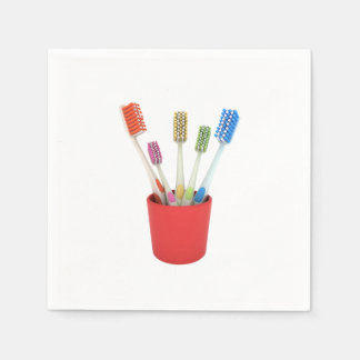 Toothbrushes Paper Napkins