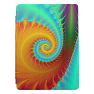 Toothed Spiral in Turquoise and Gold iPad Pro Cover