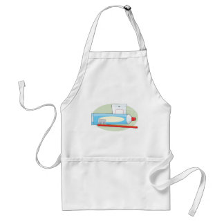 Toothpaste and Brush Standard Apron