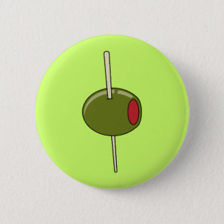 toothpicked olive 2 inch round button