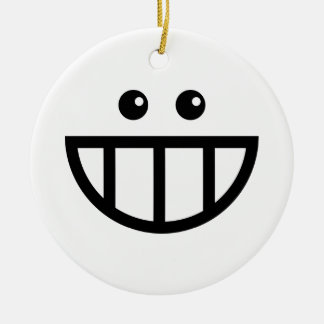 Toothy Face Ceramic Ornament