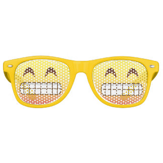 Toothy Grin Emoji Face Smile Party Glasses