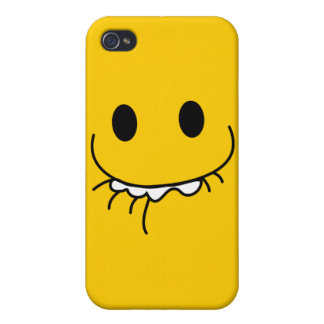 toothy grin smiley face iPhone 4/4S covers
