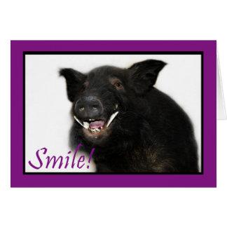 Toothy Hog Smile Card