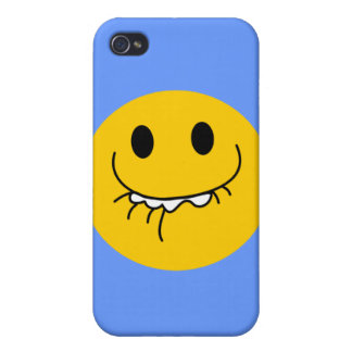 Toothy smile smiley face iPhone 4/4S covers