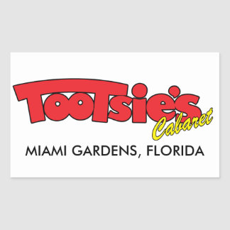 Tootsies Cabaret Rectangular Sticker