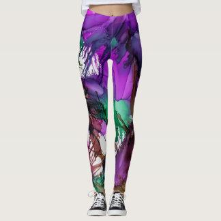 Tootzeelu Art - Purple Passion Bold Colored Leggings