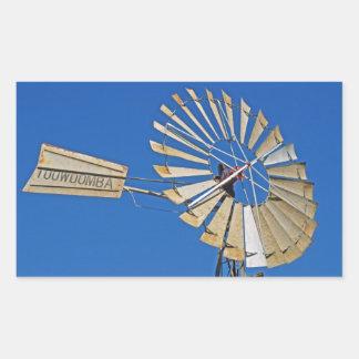 Toowoomba, Australia windmill Rectangular Sticker