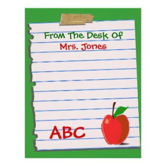 Top 10 Award! Teacher Letterhead Stationery