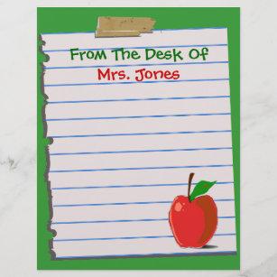 Teachers letterhead custom teachers letterhead templates teacher letterhead stationery spiritdancerdesigns Images