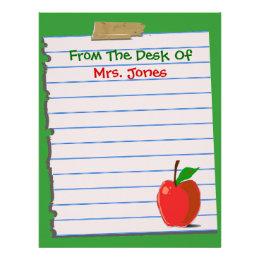 School teacher letterhead custom school teacher letterhead templates teacher letterhead stationery spiritdancerdesigns Image collections