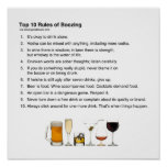 Top 10 Rules of Boozing Poster